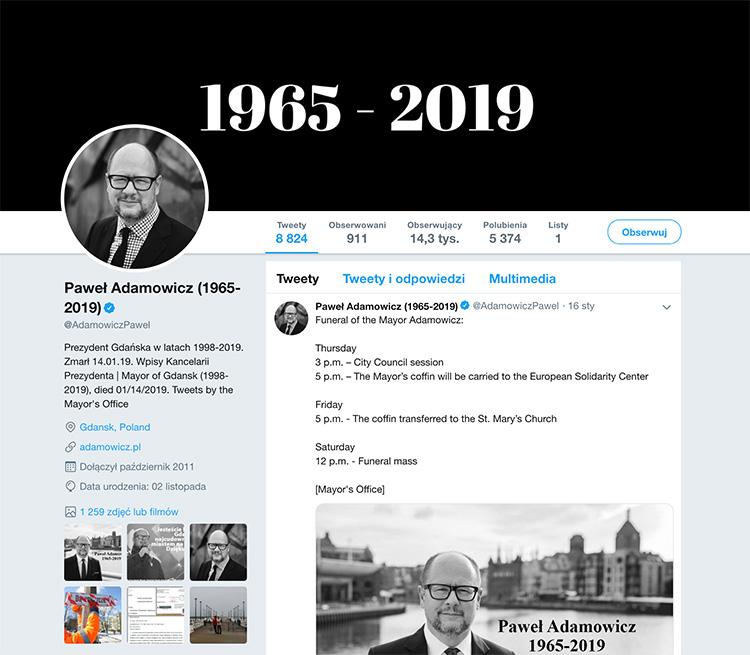 Twitter - profil osoby zmarłej