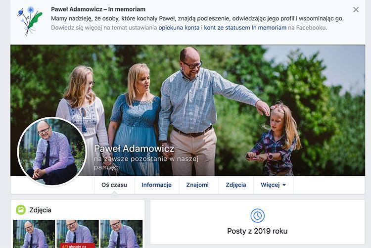 "Status ""In memoriam"" naFacebooku"